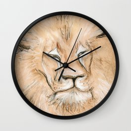 Black Maned Lion Wall Clock