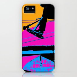 Tail Grabbing High Flying Scooter iPhone Case