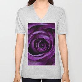 Purple Rose Flower Unisex V-Neck