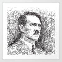 Adolf Hitler Art Print