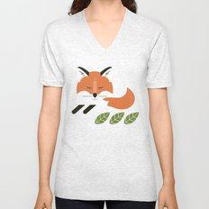 Resting Fox Unisex V-Neck