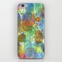 Bubbling Geometric Forms over Curved Lines  iPhone Skin