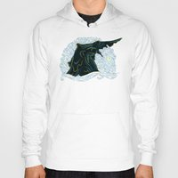 pacific rim Hoodies featuring Pacific Rim - Starry Kaiju by Charleighkat