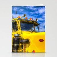 truck Stationery Cards featuring Peterbilt Truck by David Pyatt