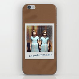 Les jumelles gourmandes ! iPhone Skin