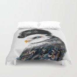 Tattooed Lady Owl Duvet Cover