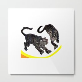 Two Tigers jGibney The MUSEUM Society6 Gifts Metal Print