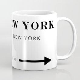 New York New York City Miles Arrow Landscape Coffee Mug