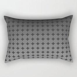 Blackk Circles Rectangular Pillow