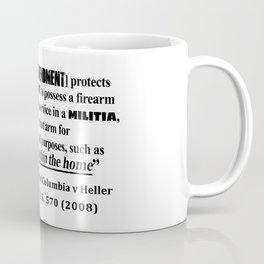 DC v Heller Second Amendment Case Law Coffee Mug