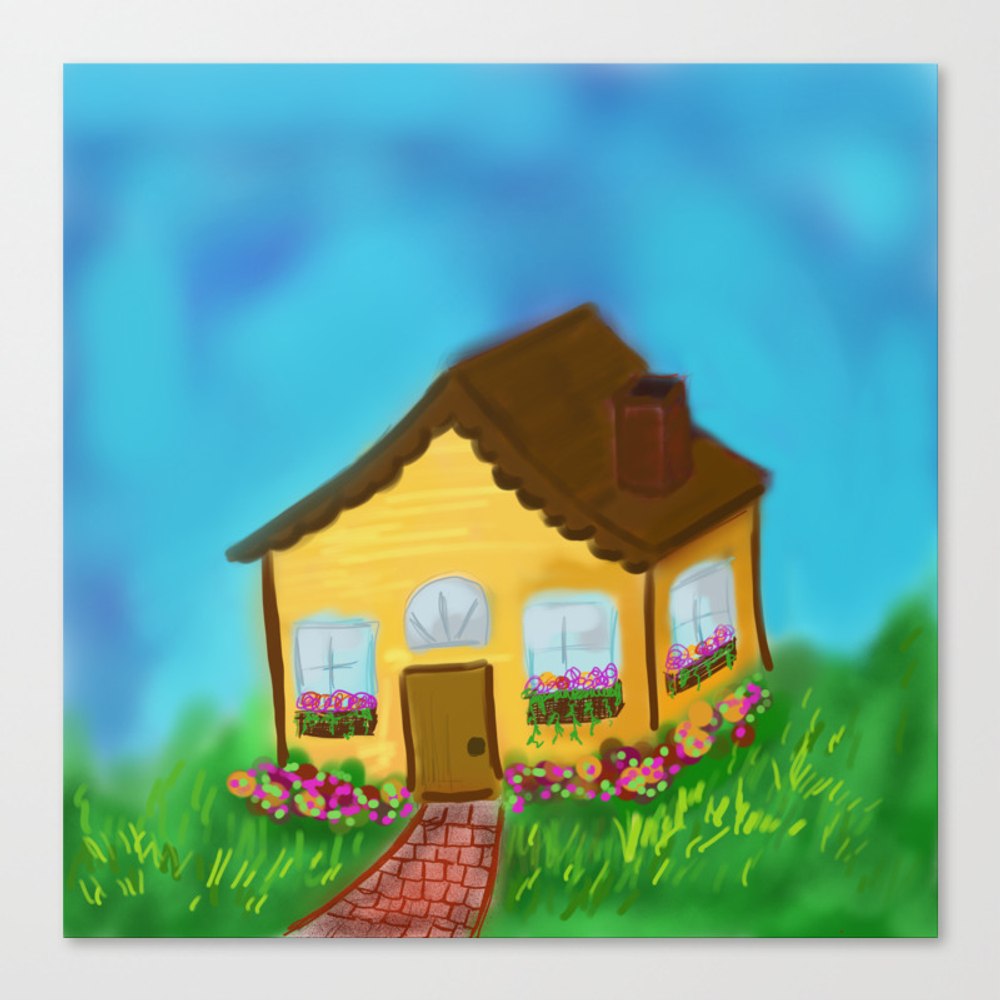 The Little House That Could Canvas Print by Mosaicpen CNV8899209