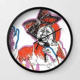 Aretha Franklin African American Singer Wall Clock