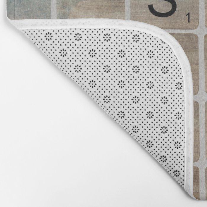 Bathroom 'Scrabble' Letters Bath Mat