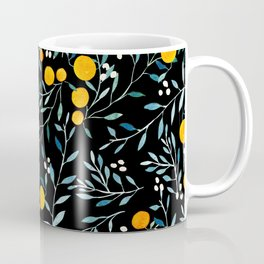 Oranges Black Coffee Mug