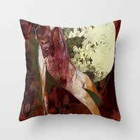 demon Throw Pillows featuring demon by anobviousaside