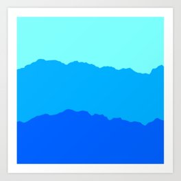 Minimal Mountain Range Outdoor Abstract Art Print