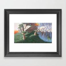 worship of change Framed Art Print