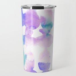 Dye Ovals Pink Turquoise Travel Mug