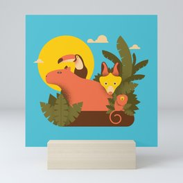 Tropical Animals Mini Art Print