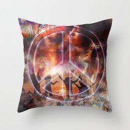 Woodstock Peace Throw Pillow