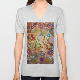 Australia The Land That Time Forgot 2 Unisex V-Neck