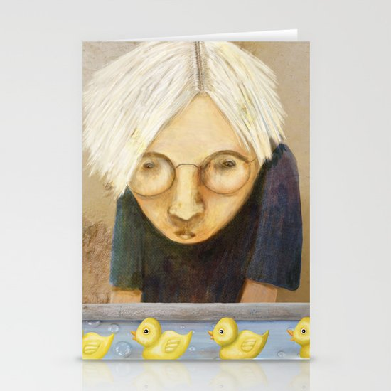 Watching the Ducks Stationery Cards