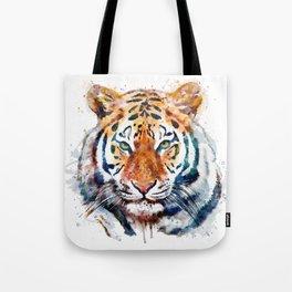 Tiger Head watercolor Tote Bag