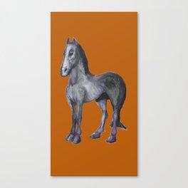 Noble Steed (burnt orange) Canvas Print