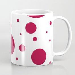 Crimson & White Bubbles Coffee Mug