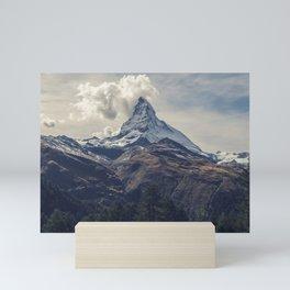 Distant Mountain Peak Mini Art Print