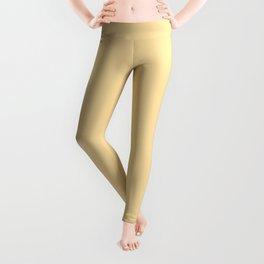 Buttercream Yellow Pastel Solid Leggings