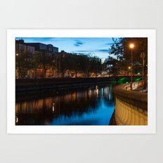 Dublin Fair City Art Print