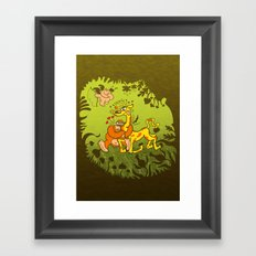 Cupid Having Fun Framed Art Print