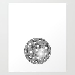 Rap Makes Me Miss Disco Ball Groovy Music Funny T-Shirt Art Print