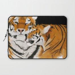 Tiger cub and mom (cheek-bump) Laptop Sleeve