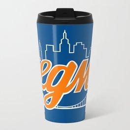 Let's Go Mets Metal Travel Mug
