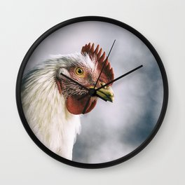 The white rooster Wall Clock