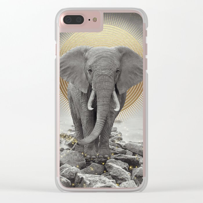 Strength & Courage Clear iPhone Case