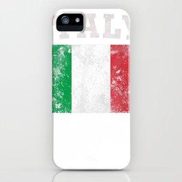 classic italian italy flag pride gift tee tee iPhone Case