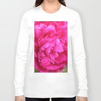 peony Long Sleeve T-shirts featuring Peony by Stecker Photographie