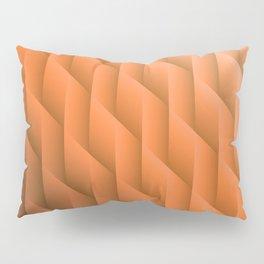 Gradient Orange Diamonds Geometric Shapes Pillow Sham