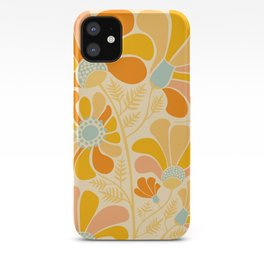 Sunny Flowers / Floral Illustration iPhone Case