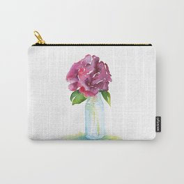 Rose in a Glass Vase Watercolor Carry-All Pouch