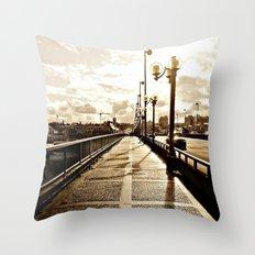 On the Cambie Street Bridge Throw Pillow