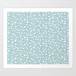 tiny mountains Art Print