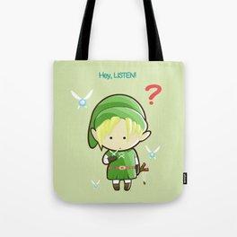 Hey Listen! Cute Link From Zelda Kawaii :) Tote Bag