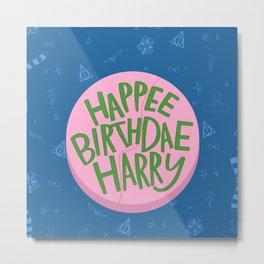 Happy Birthday Harry Metal Print