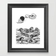 Swirly Water Framed Art Print