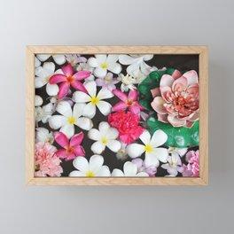 Colorful Zen Flowers Framed Mini Art Print