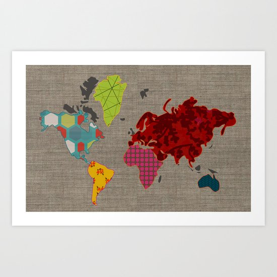 Simi's Map of the World Art Print